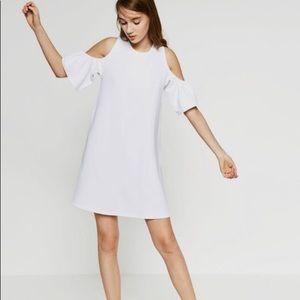 Zara White cold shoulder dress worn 1x!